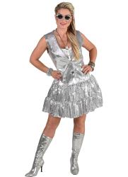 Gilet voor Dames met Pailletten - zilver