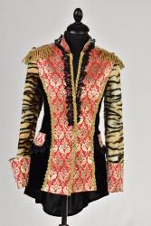 Carnavalsjas brocaat royal voor dames - zwart