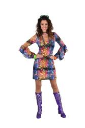Party jurk jersey-colour drops
