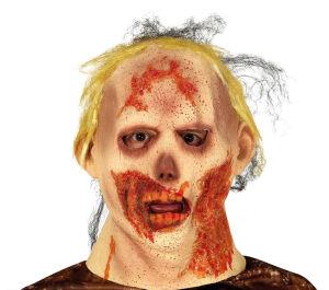 Latex Zombie Masker Met Haar