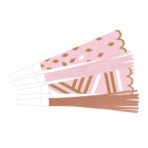 Feesttoeters Rosé Gold Blush 8st