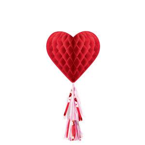 Honeycomb decoratie - hart vorm