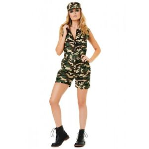 Camouflage outfit voor dames