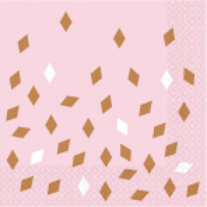 Servetten Rosé Gold Blush 16st