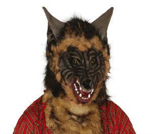 Masker Wolf pvc met haar