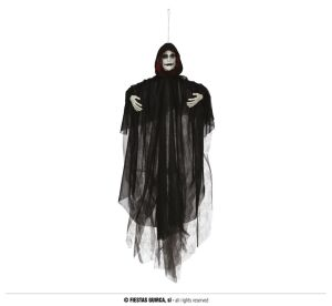 BLACK HOODED HANGING 70 CMS