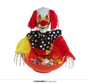 Bak met Clown met licht, geluid en beweging