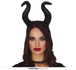 Tiara met Zwarte hoorns