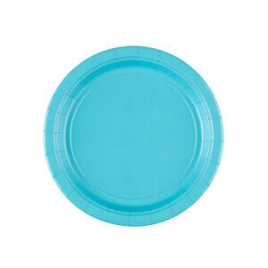 Borden rond papier baby blauw 18cm