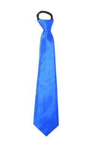 Luxe stropdas satijn blauw