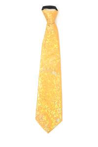 Luxe stropdas satijn goud