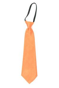 Luxe stropdas satijn oranje