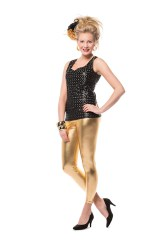 Dames Legging Metallic - goud