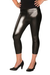 Dames Legging Metallic - zwart