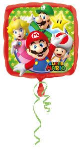 Folieballon Standard Mario Bros Square S60 43cm