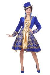 Carnavalsjas Bling Lang - blauw/goud