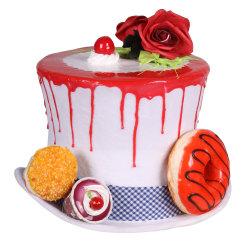 Cupcake hoed heer, Wit-Mix van kleuren