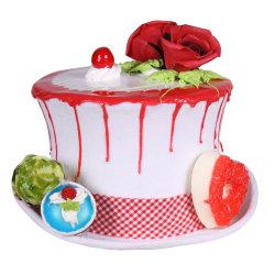 Cupcake hoed dame, Wit-Mix van kleuren