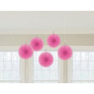 Decoratie waaiers papier baby roze