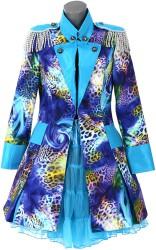 Carnavalsjas ''Blue Panter'' lang model voor Dames