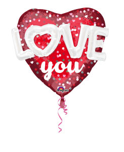 Folieballon Mulit-Balloon Love Hearts & Dots P75 91x91cm