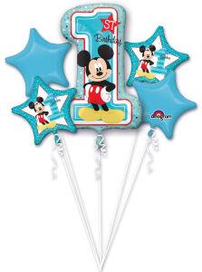 Folieballon Bouquet Mickey 1st Birthday 5-delig P75