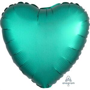 Folieballon Hart Satin Luxe Jade S15 43cm