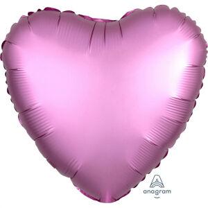 Folieballon Hart Satin Luxe Flamingo S15 43cm