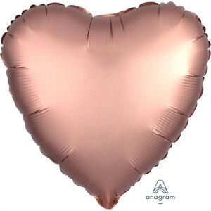 Folieballon Hart Satin Luxe Rose Copper S15 43cm