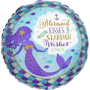 Folieballon Standard Mermaid Wishes & Kisses S40