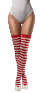 Stockings gestreept rood-wit