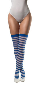 Stockings gestreept blauw-wit