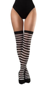 Stockings gestreept zwart-wit