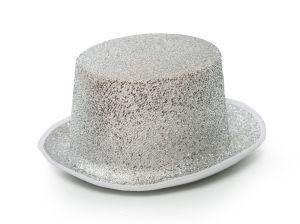 Hoed Glitter Zilver