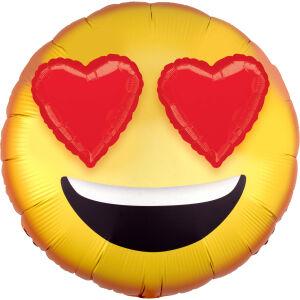 Folieballon Multi-Ballon 3D Emoticon with Heart Eyes P60 71x71cm