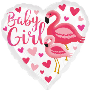 Folieballon Standard HX Flamingo Baby Girl S40