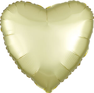Folieballon Hart Satin Luxe Pastel Yellow S15