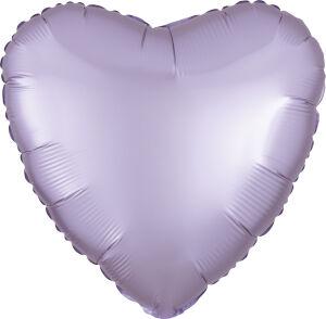 Folieballon Hart Satin Luxe Pastel Lilac S15