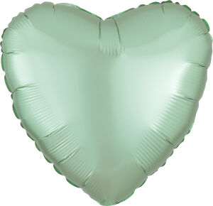 Folieballon Hart Satin Luxe Mint Green S15