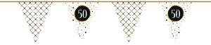 Vlaggenlijn Papier Festive Gold 50