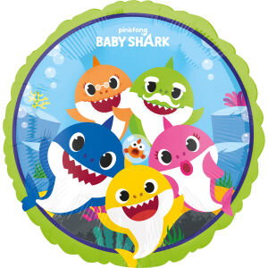 Folieballon Rond Baby Shark S60