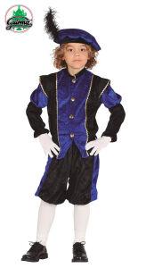 Piet kind blauw-zwart