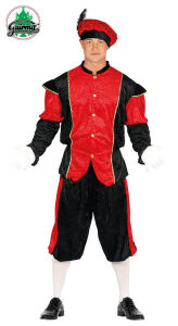 Pietenpak heren Rood-Zwart