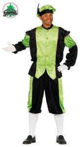 Pietenpak heren Groen-Zwart