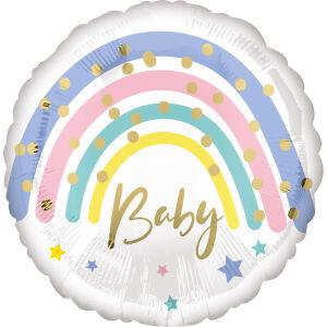Folieballon Standard Pastel Rainbow Baby S40