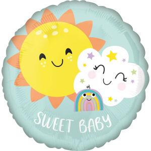 Folieballon Standard Sweet Baby Rainbow S40