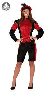 Pietenpak Dame Rood-Zwart