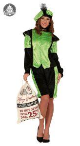 Pietenpak dame Groen-Zwart