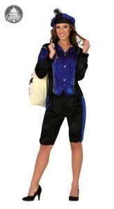Pietenpak dame Blauw-Zwart
