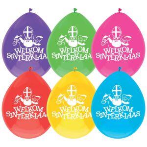 Ballonnen ''Welkom Sinterklaas'' 30cm, 6st